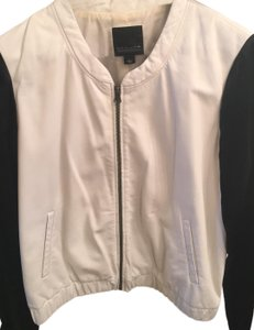 Trouvé black silk and white leather Leather Jacket