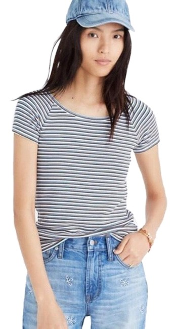 Item - Canal In Stripe Tee Shirt Size 4 (S)