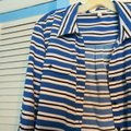 Notations Button Down Shirt Blue and black