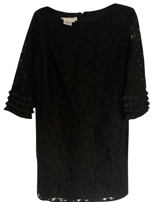 Item - Black Lace Shift Short Formal Dress Size Petite 8 (M)