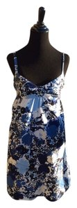 Ann Taylor LOFT short dress Blue Floral Multi on Tradesy