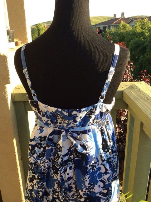 Ann Taylor LOFT short dress Blue Floral Multi on Tradesy Image 2