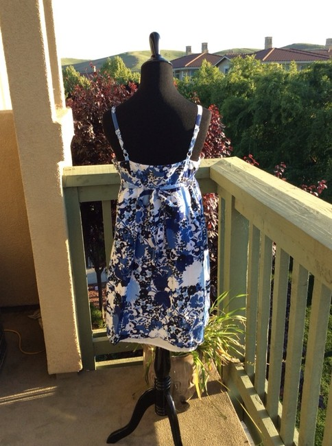 Ann Taylor LOFT short dress Blue Floral Multi on Tradesy Image 3