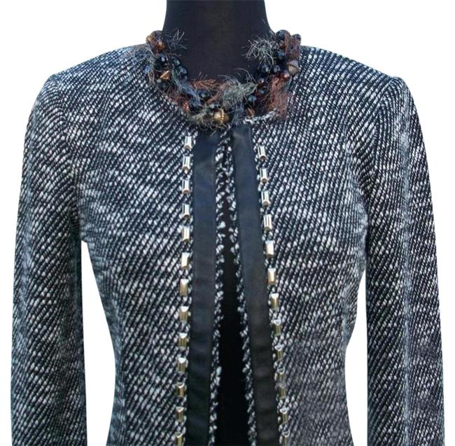 Item - Black XS Lined Front Hook Eye Closure Top New 0/2 Trim Jacket Size 2 (XS)