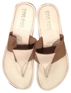 Cole Haan White & Tan Sandals