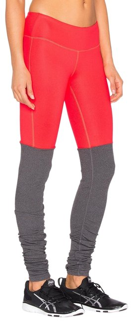 Item - Red/ Gray Yoga Goddess Ribbed Activewear Bottoms Size 4 (S)