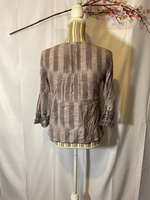 Lucky Brand Aztec Layers V-neck Top Violet Purple Image 2