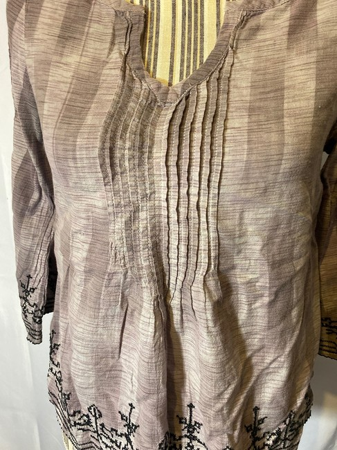 Lucky Brand Aztec Layers V-neck Top Violet Purple Image 4