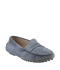 Tods Loafers Suede Blue Flats