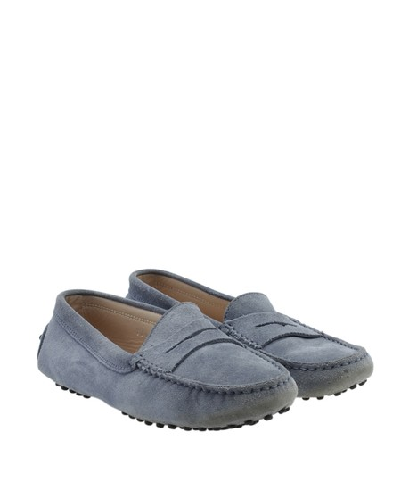 Tods Loafers Suede Blue Flats Image 1