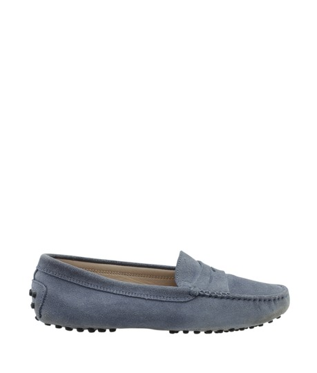 Tods Loafers Suede Blue Flats Image 2