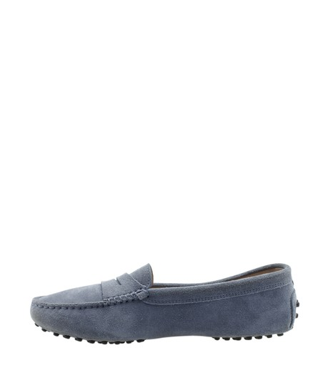 Tods Loafers Suede Blue Flats Image 3