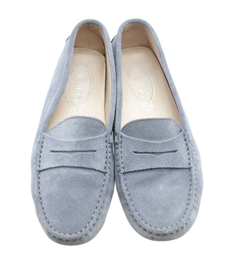 Tods Loafers Suede Blue Flats Image 4