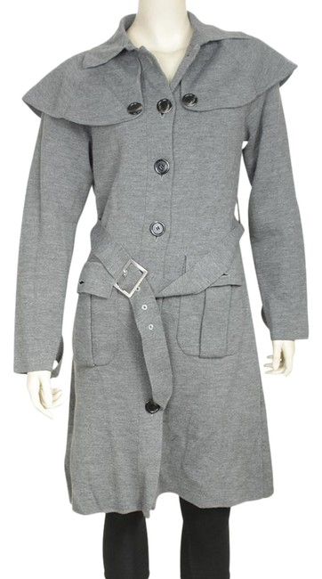Preload https://img-static.tradesy.com/item/26374820/burberry-grey-belted-wool-blend-178659-coat-size-os-one-size-0-2-650-650.jpg