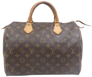 Louis Vuitton Speedy 30 Monogram Canvas Tote in Brown