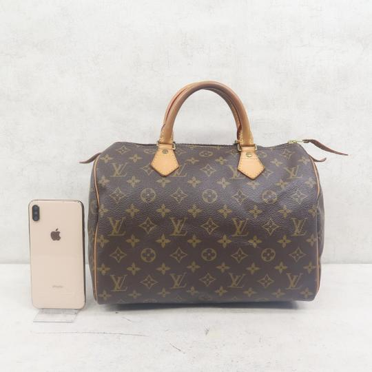 Louis Vuitton Speedy 30 Monogram Canvas Tote in Brown Image 1