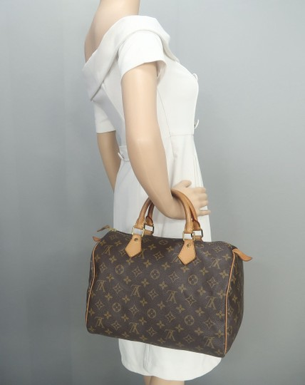 Louis Vuitton Speedy 30 Monogram Canvas Tote in Brown Image 11