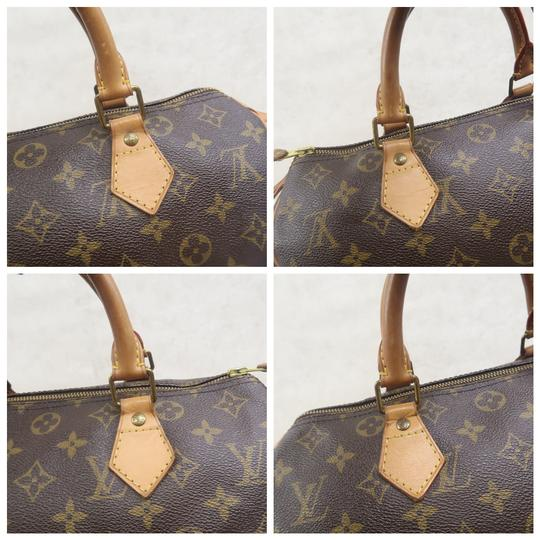 Louis Vuitton Speedy 30 Monogram Canvas Tote in Brown Image 7