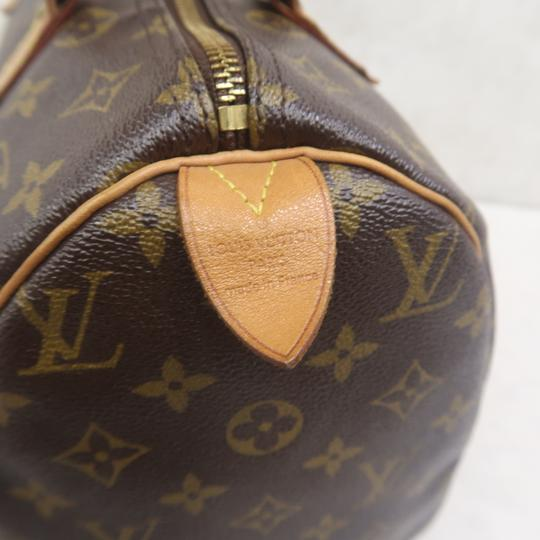 Louis Vuitton Speedy 30 Monogram Canvas Tote in Brown Image 9