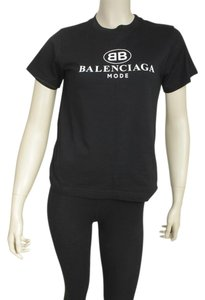 Balenciaga Cotton T Shirt Black