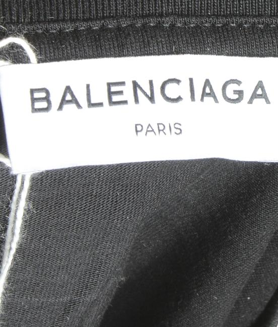 Balenciaga Cotton T Shirt Black Image 3
