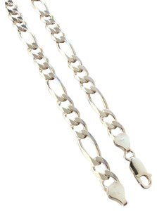 Harlembling Harlembling 925 Sterling Silver 8mm Figaro Chain Necklace
