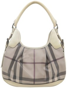 Burberry Brooklyn Haymarket Check Canvas Hobo Bag - item med img