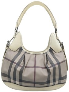 Burberry Brooklyn Haymarket Check Canvas Hobo Bag