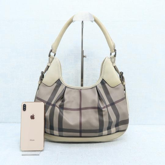 Burberry Brooklyn Haymarket Check Canvas Hobo Bag Image 1