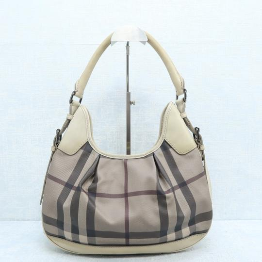 Burberry Brooklyn Haymarket Check Canvas Hobo Bag Image 2