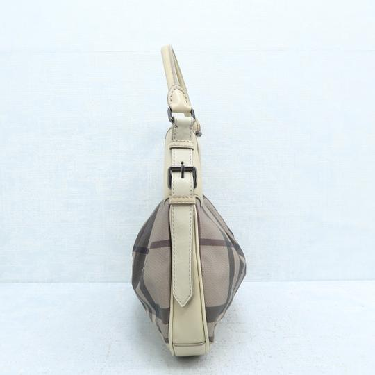 Burberry Brooklyn Haymarket Check Canvas Hobo Bag Image 4