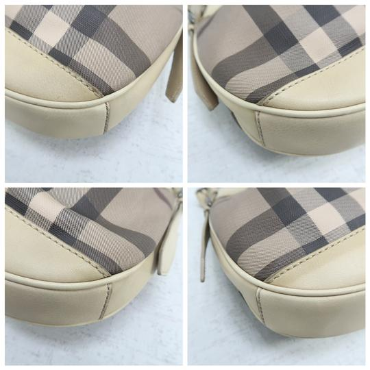 Burberry Brooklyn Haymarket Check Canvas Hobo Bag Image 6