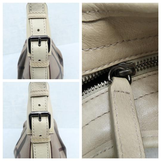 Burberry Brooklyn Haymarket Check Canvas Hobo Bag Image 8