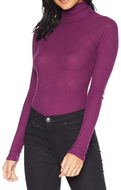 Preload https://img-static.tradesy.com/item/26374969/free-people-new-all-you-want-thermal-mock-neck-bodysuit-magenta-sweater-0-2-650-650.jpg