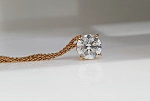 18k White Gold 14 Kt. Yellow with Pendant - 0.90 Ct Diamond Necklace