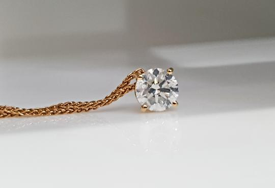 18k White Gold 14 Kt. Yellow with Pendant - 0.90 Ct Diamond Necklace Image 5