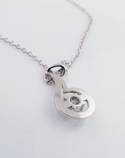 18k White Gold 18 with Pendant - 1.27 Ct Diamond Necklace Image 2