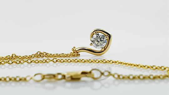 18k White Gold 18 Kt. Yellow with Pendant - 1.04 Ct Diamond Necklace Image 5