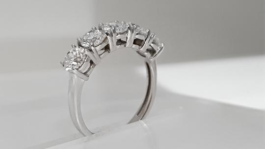 14 Kt. White Gold - Five Stone - 2.52 Ct Diamond Engagement Ring Image 4