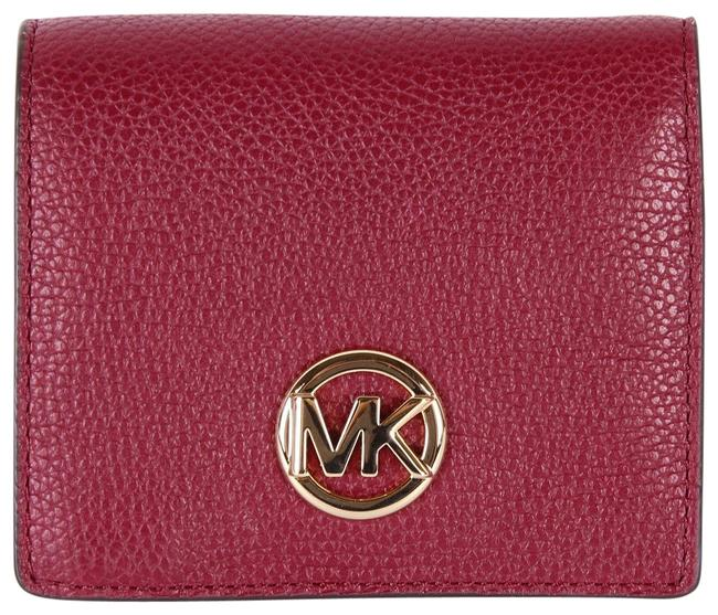 Item - Red Fulton Jet Set Travel Pebble Leather Coin Card Wallet