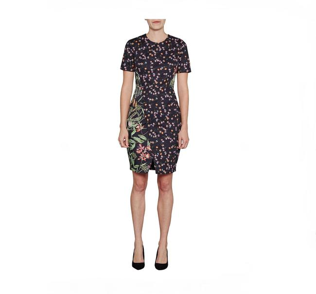 French Connection short dress Black Multi Pencil Floral Print on Tradesy Image 1