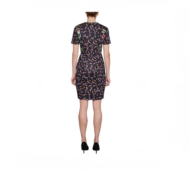 French Connection short dress Black Multi Pencil Floral Print on Tradesy Image 2