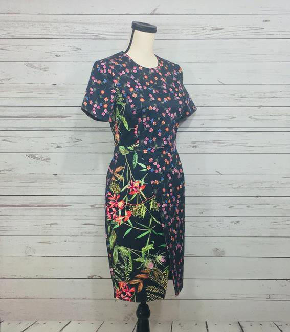 French Connection short dress Black Multi Pencil Floral Print on Tradesy Image 3