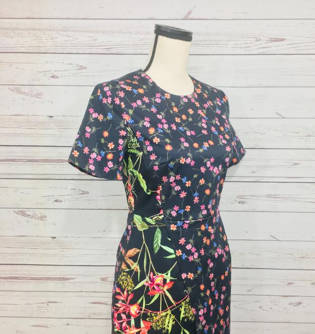 French Connection short dress Black Multi Pencil Floral Print on Tradesy Image 4