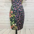 French Connection short dress Black Multi Pencil Floral Print on Tradesy Image 6