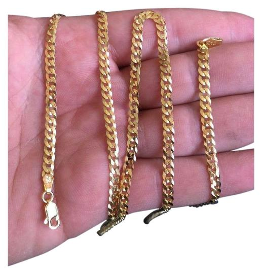 Preload https://img-static.tradesy.com/item/26375075/14k-gold-925-sterling-silver-4mm-cuban-link-chain-necklace-0-2-540-540.jpg