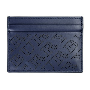 Burberry Burberry Unisex 100% Leather Blue Credit Card Case