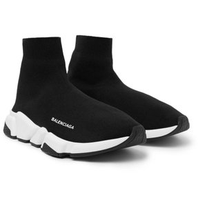 Balenciaga Speed Sneakers Trainers Logo Black Athletic