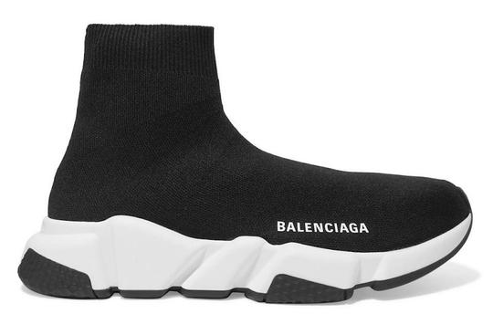 Balenciaga Speed Sneakers Trainers Logo Black Athletic Image 1