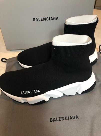 Balenciaga Speed Sneakers Trainers Logo Black Athletic Image 8